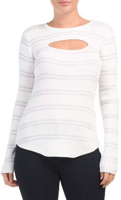 Ribbed Long Sleeve Cut Out Sweater