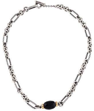 David Yurman Onyx Figaro Pendant Necklace