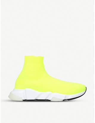 Balenciaga Mens Yellow Speed Woven Sneakers