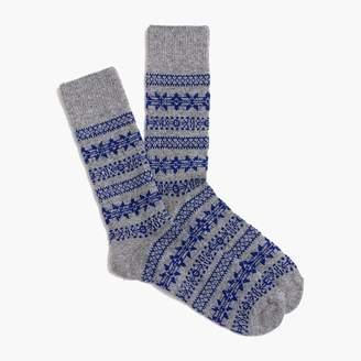 J.Crew Fair Isle holiday socks