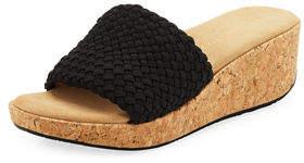 Adrienne Vittadini Davis Woven Platform Sandal