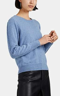 Altuzarra Women's Fillmore Braid-Inset Cashmere Sweater - Blue