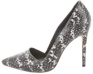 Alice + Olivia Leather Pointed-Toe Pumps