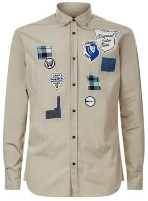 DSQUARED2 Long Sleeve Badge Shirt