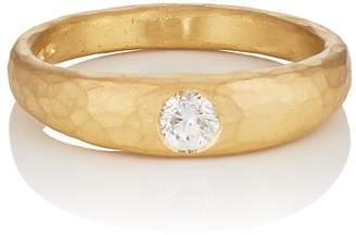 Malcolm Betts Women's Round White Diamond Ring