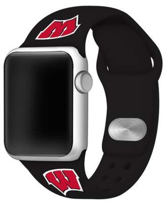 Affinity Bands Wisconsin Badgers Silicone Sport Band for Apple Watch - 38mm BLK