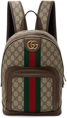 Gucci Brown Small GG Ophidia Backpack