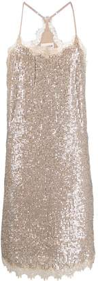 Semi-Couture Semicouture sequin slip dress