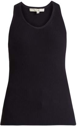 Tibi Scoop-neck ribbed-knit tank top