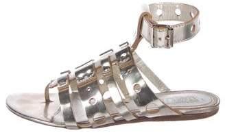 Alexander McQueen Metallic Gladiator Sandals