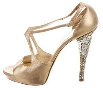 Versace Embellished High-Heel Sandals