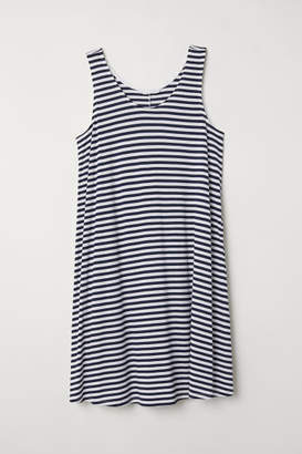 H&M A-line Jersey Dress - White