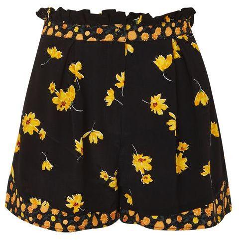 TopshopTopshop Mix floral frill flip shorts