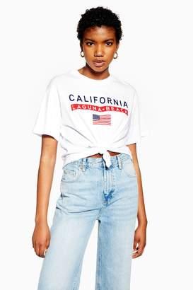 45750d1ae3cb8 Topshop Womens Petite Cali Beach Knot Crop Top - White
