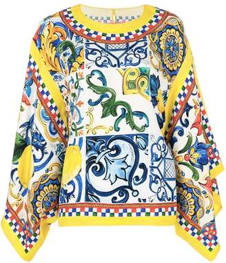 Dolce & Gabbana Majolica printed blouse