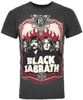 d9202edbb68 Amplified Ampified Officia Mens Back Sabbath Poster T-Shirt (Charcoa)