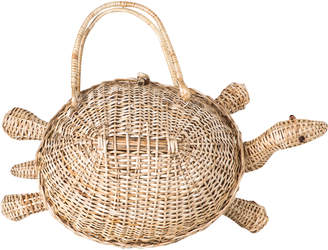 Cooperativa Shop Soy Turtle Wicker Basket Bag