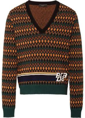 Prada Wool and cashmere V-necked sweater