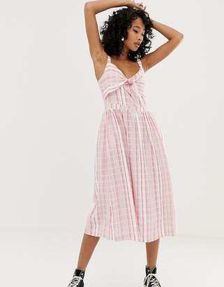 Pepe Jeans Simonetta stripe maxi dress