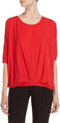 Patrizia Luca Split Cold Shoulder T-Shirt Top
