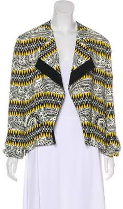 Etro Patterned Open Front Jacket