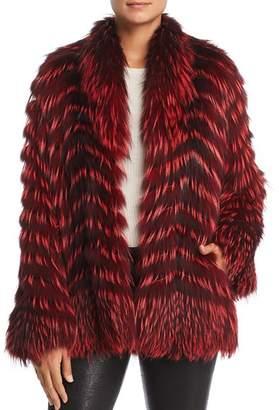 Maximilian Furs x Zac Posen Feathered Fox Fur Coat - 100% Exclusive