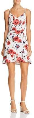 Aqua Floral Ruffle-Hem V-Neck Dress - 100% Exclusive