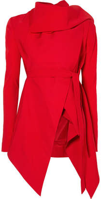 Gareth Pugh Asymmetric Draped Shantung Blazer - Red