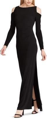 Chaps Women's Cold-Shoulder Full Length Dress