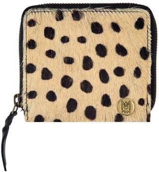 MAHI Leather - Classic Ladies Coin Purse In Spotted Print Pony Hair Leather