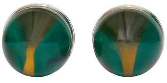 Burberry marble and brass sphere cufflinks