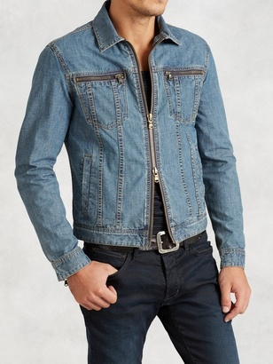 Denim Zip Jacket $298 thestylecure.com