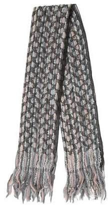 Armani Collezioni Wool Blend Fringe Scarf w/ Tags