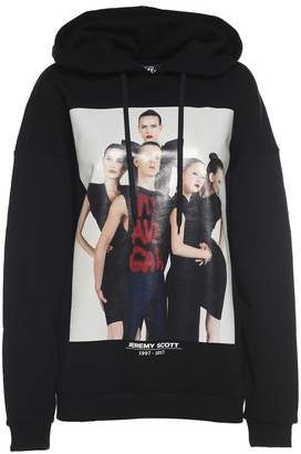 Jeremy Scott Printed Cotton-jersey Hooded Sweatshirt