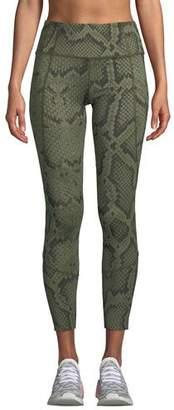 Varley Bedford Snakeskin-Print Tight Leggings