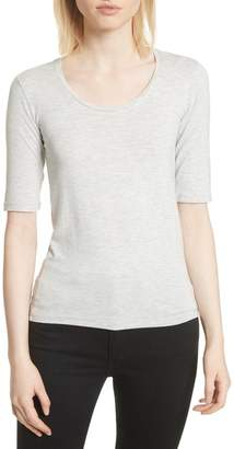 Majestic Soft Touch Elbow Sleeve Tee