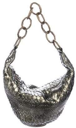 Diane von Furstenberg Glazed Python Hobo