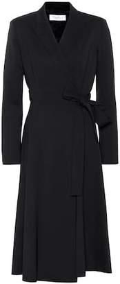 Max Mara Fantino wool wrap dress