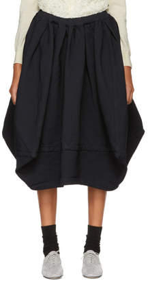 Comme des Garcons Navy Voluminous Skirt