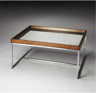 LOFT Butler Specialty Mirrored Cocktail Table