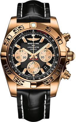 Breitling Chronomat rose gold watch