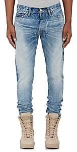 Fear Of God Men's Ankle-Zip Slim Jeans-Blue Size 28