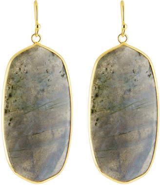 Panacea Agate Linear Oval Slice Drop Earrings