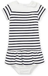 Ralph Lauren Baby Girl's Cotton Stripe Dress& Bloomers Set
