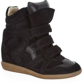 49b5ea108c71 Isabel Marant Bekett Suede Wedge Sneaker