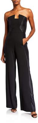 Black Halo Lena Tuxedo Strapless Jumpsuit