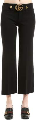 Gucci Boot Cut Stretch Viscose Jersey Pants