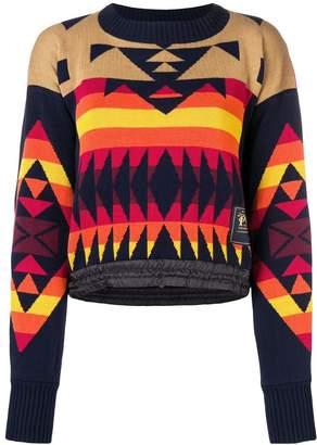 Sacai pendleton pattern jumper