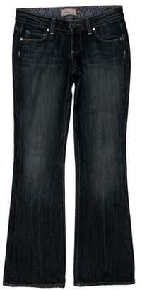 Paige Denim Low-Rise Wide-Leg Jeans