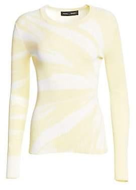 Proenza Schouler Women's Tie-Dye Rib-Knit Top